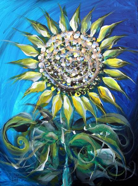 Painting - Sunflower At Dawn by J Vincent Scarpace