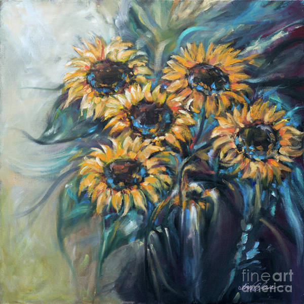 Painting - Sunflower Bouquet by Linda Olsen
