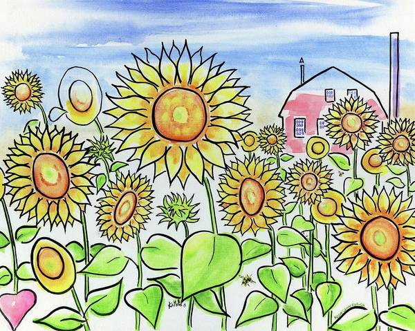 Wall Art - Painting - Sunflower Gods by Kevin Cameron