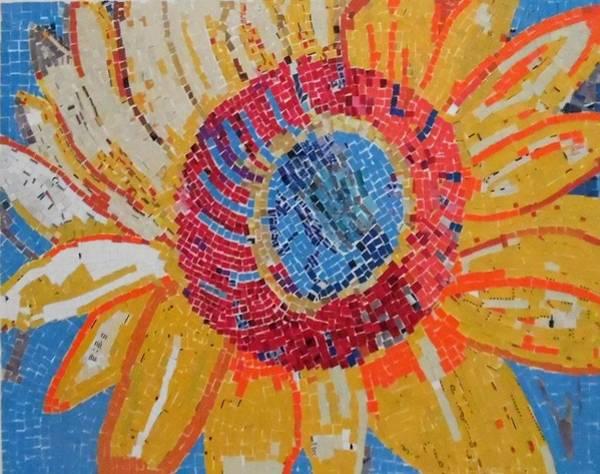 Wall Art - Mixed Media - Sunflower by ILona Halderman