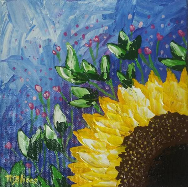 Wall Art - Painting - Sunflower by Migdalia Alicea