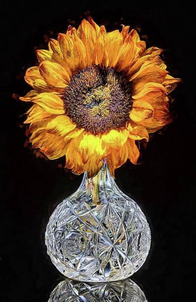 Digital Art - Sunflower Still Life by JC Findley