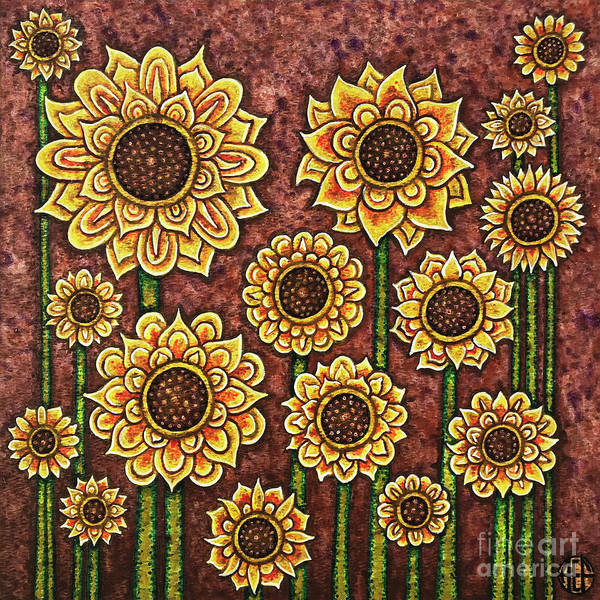 Painting - Sunflower Tapestry by Amy E Fraser