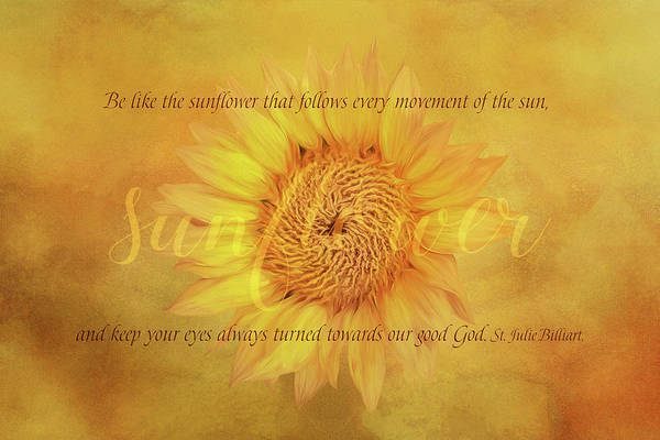 Wall Art - Digital Art - Sunflower Wisdom by Terry Davis