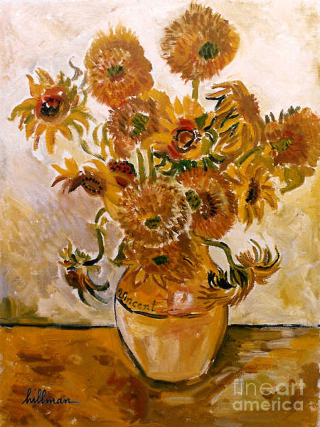Wall Art - Painting - Sunflowers After Van Gogh 1996 By Hillman by A Hillman