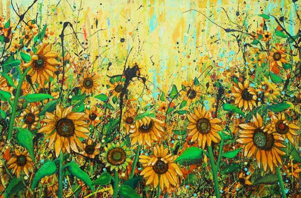 Wall Art - Painting - Sunflowers by Angie Wright