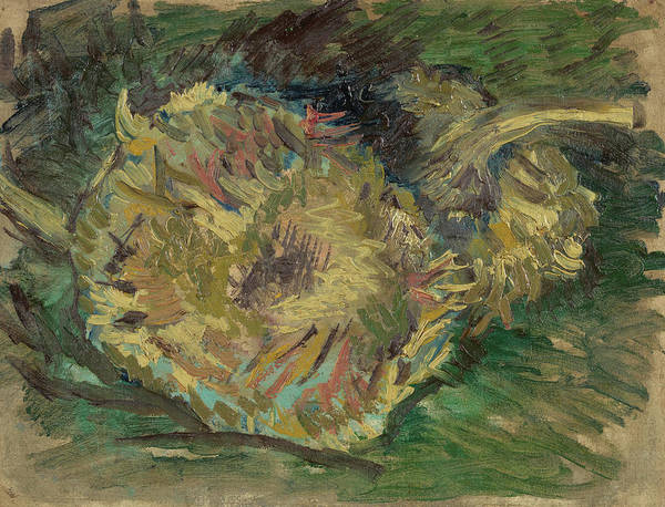 Rural Life Wall Art - Painting - Sunflowers Gone To Seed by Vincent Van Gogh