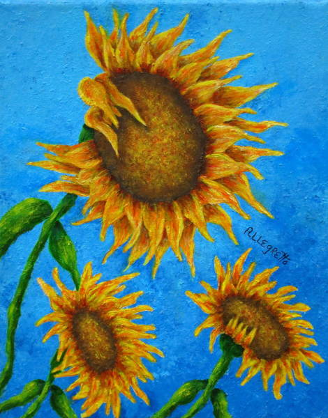 Wall Art - Painting - Sunflowers by Pamela Allegretto