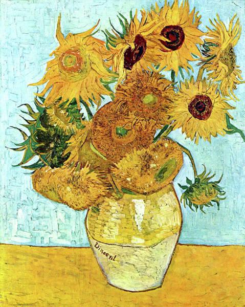 Dgt Wall Art - Painting - Sunflowers by Tatyana Drondina