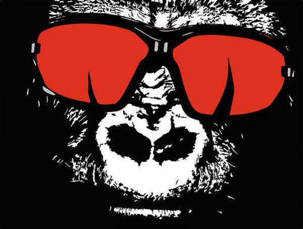 Monkey Wall Art - Digital Art - Sunglasses Gorilla by ArtMarketJapan