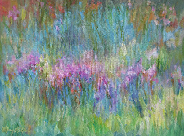 Painting - Sunlight Dancing In The Meadow by Mary Wolf