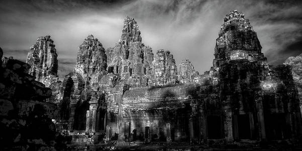 Wall Art - Photograph - Sunlight Falling On Temple At Sunset by Panoramic Images