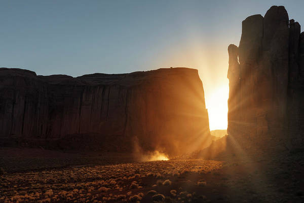 Wall Art - Photograph - Sunlight Filtering Between Two Huge by Adam Jones
