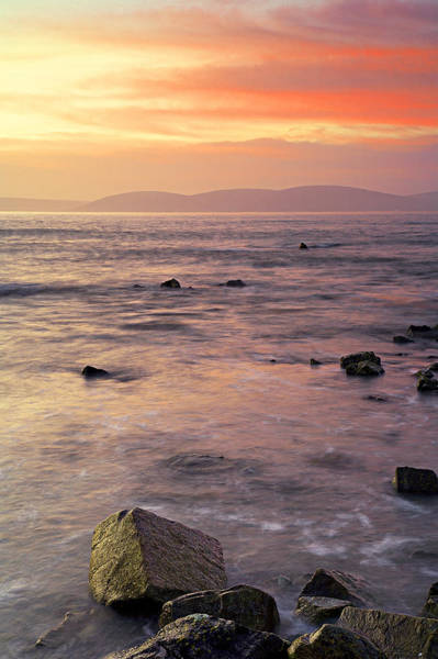 Wall Art - Photograph - Sunlight On Galway Bay by Michael Walsh