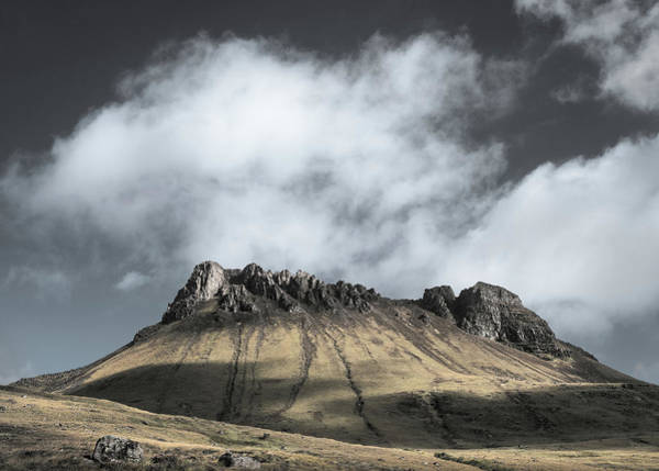 Wall Art - Photograph - Sunlight On Stac Pollaidh by Dave Bowman