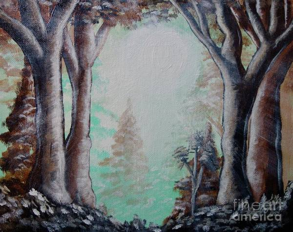 Painting - Sunlight Through The Forest by Jacqueline Athmann