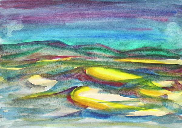 Painting - Sunlit Hills. by Irina Dobrotsvet