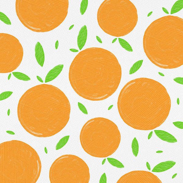 Painting - Sunny Citrus Pattern by Jen Montgomery