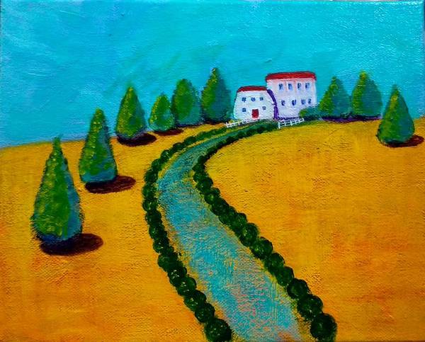 Wall Art - Painting - Sunny Cottages by Asha Sudhaker Shenoy
