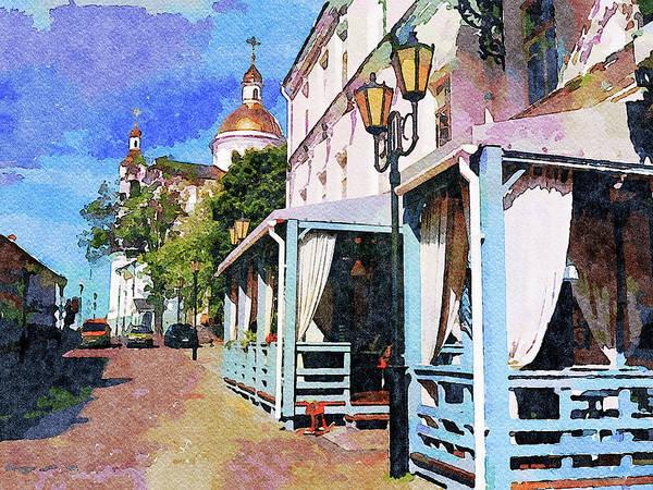 City Scape Digital Art - Sunny Day In Vitebsk City 1 by Yury Malkov