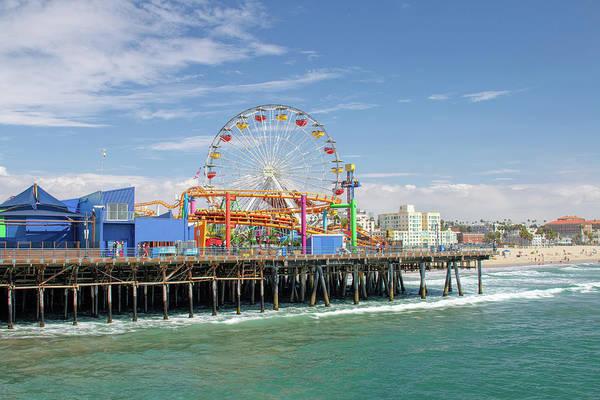 Photograph - Sunny Day On The Santa Monica Pier by Kristia Adams