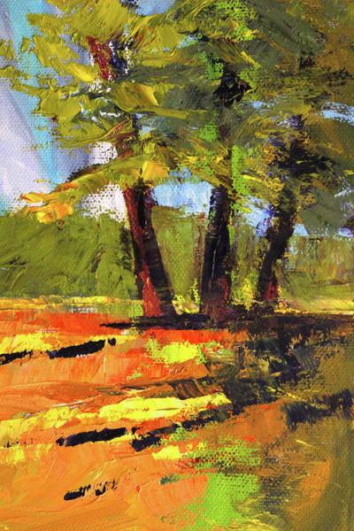 Wall Art - Painting - Sunny Field Landscape by Nancy Merkle