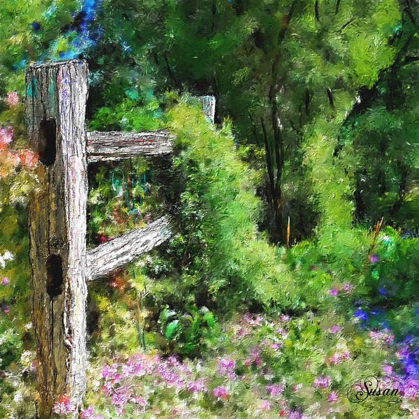 Digital Art - Sunny Garden Spot by Susan Kinney