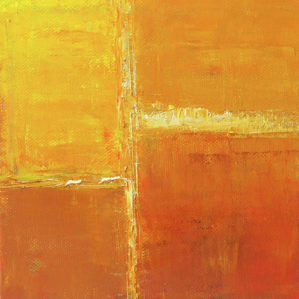 Wall Art - Painting - Sunny Geometry by Nancy Merkle