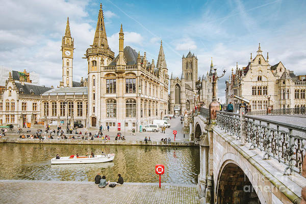 Wall Art - Photograph - Sunny Ghent by JR Photography