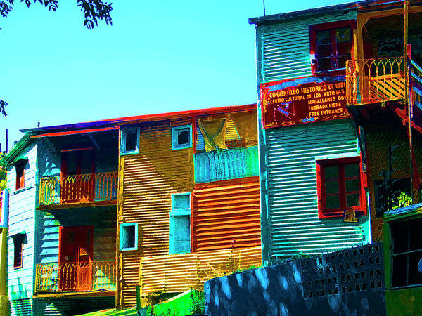 Tenement Photograph - Sunny Morning, La Boca, Buenos Aires by Kurt Van Wagner