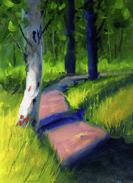 Wall Art - Painting - Sunny Path by Nancy Merkle