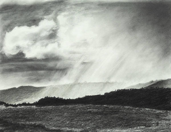 Drawing - Sunny Rainfall by Lynn Hansen