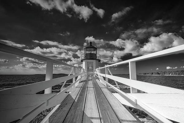 Wall Art - Photograph - Sunny Skies At Marshall Point In Black And White by Rick Berk