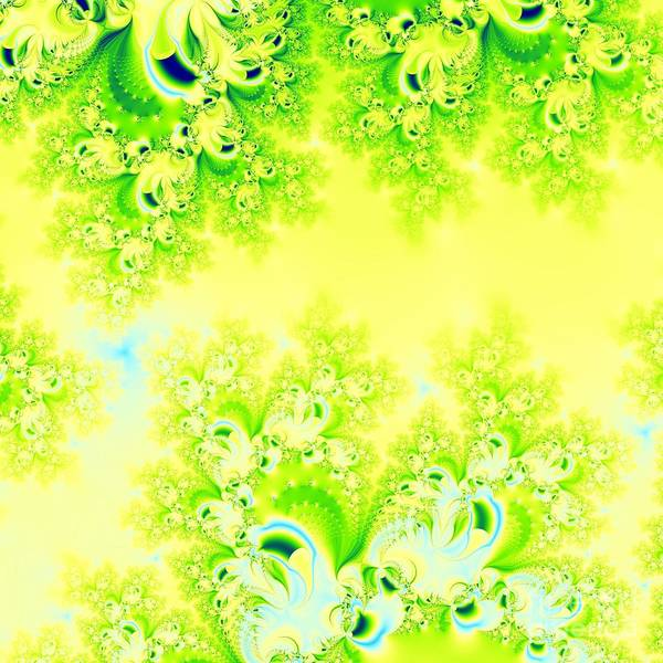 Digital Art - Sunny Spring Frost Fractal Abstract by Rose Santuci-Sofranko