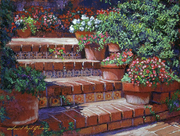 Painting - Sunny Steps by David Lloyd Glover