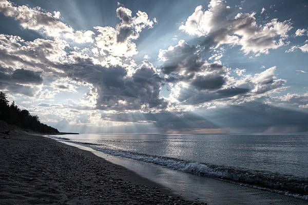 Photograph - Sunrays On Lake Superior by Mary Lee Dereske