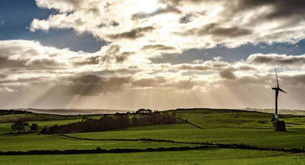 Photograph - Sunrays Over Derbyshire by Scott Lyons