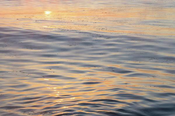 Photograph - Sunrise Abstract In Sleek Icy Satin - Take One by Georgia Mizuleva
