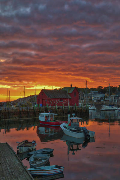 Photograph - Sunrise Across Rockport Harbor by Juergen Roth