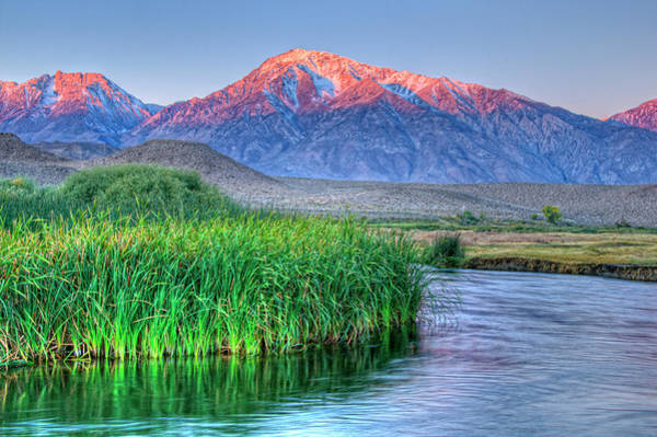 High Dynamic Range Imaging Photograph - Sunrise Alpenglow On Mt Tom And Owens by Bill Wight