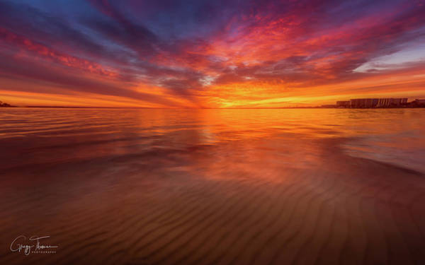 Choctawhatchee Bay Photograph - Sunrise And Sand Ripples by Gregg Thomas