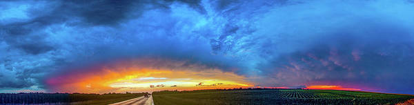 Photograph - Sunrise And Storm 006 by NebraskaSC