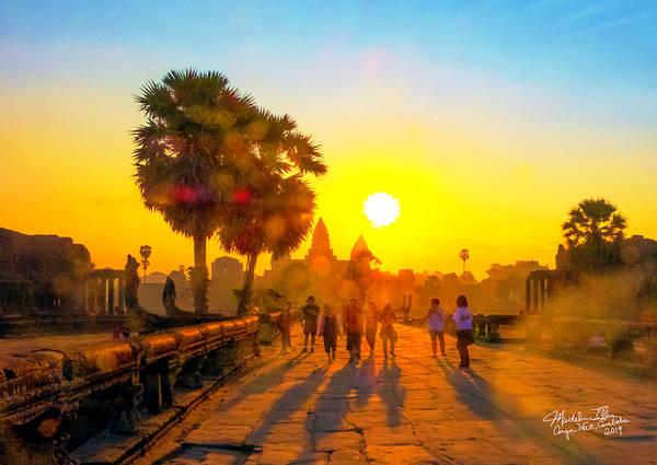 Wall Art - Photograph - Sunrise At Angkor Wat, Cambodia by Madeline Ellis