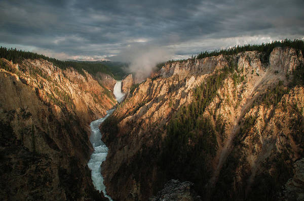 Yellowstone Canyon Photograph - Sunrise At Artist Point by Rawin Cheasagul