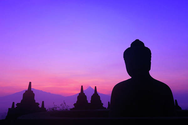 Wall Art - Photograph - Sunrise At Borobudur by Photo By Prasit Chansareekorn