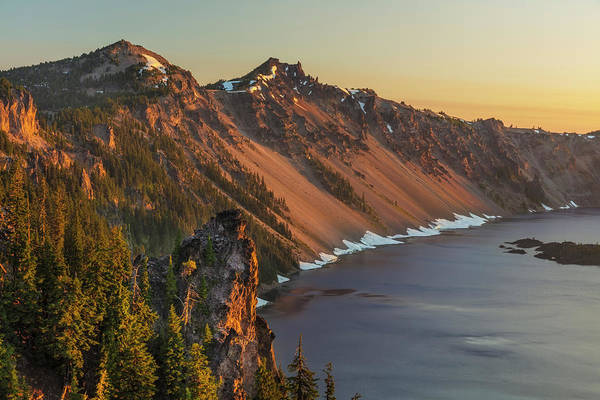 Wall Art - Photograph - Sunrise At Crater Lake National Park by Chuck Haney