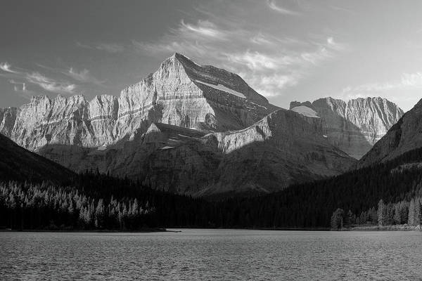 Photograph - Sunrise At Glacier In Bw by Todd Klassy