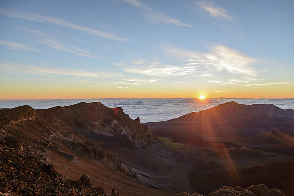 Wall Art - Photograph - Sunrise At Haleakala by Photo By Robert Vaughn