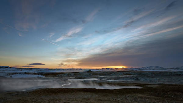 Photograph - Sunrise At Iceland Geothermal Field by Joan Carroll