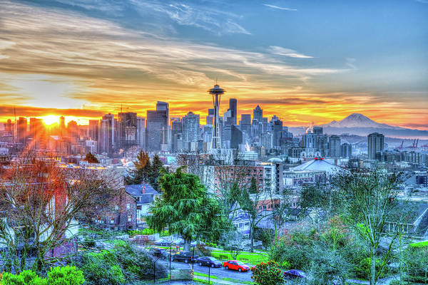 Wall Art - Photograph - Sunrise At Kerry Park by Spencer McDonald